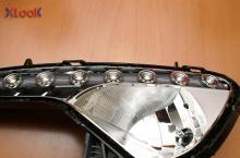 Светодиодные модули ходовых огней в передние фары - тюнинг X-Look на KIA Sportage 3.