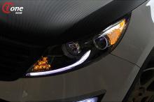 Светодиодные модули поворотников / габаритов в передние фары - тюнинг KIA Sportage, модель Ione.