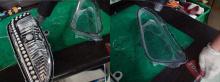 Тюнинг оптики Хендай Санта Фе - светодиодные модули в переднюю оптику - двухконтурные ПТФ.