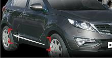 Стайлинг Киа Спортейдж 3 - хромированные накладки на двери - от компании Auto Clover.