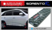Стайлинг Киа Соренто - декоративные накладки на двери хромированные - от производителя Auto Clover.