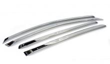 Тюнинг Киа Форте - хромированные ветровики боковых окон.