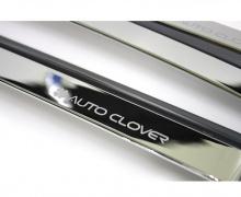 Тюнинг Хендай Соната 6 - хромированные ветровики на боковые окна - комплект 4 штуки - от производителя Auto Clover.