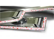 Тюнинг Киа Рио 3 хэтчбек - для моделей 2012-2013 г.в. - ветровики на боковые окна хромированные -  комплект 4 штуки - от компании Auto CLover.