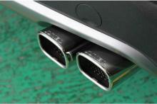 Раздвоенная выхлопная система с хромированными насадками глушителей Twin от производителя JUN BL (Южная Корея).