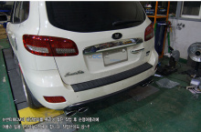 Двойная насадка на глушительPuzzle - Тюнинг Hyundai New Santa Fe 2