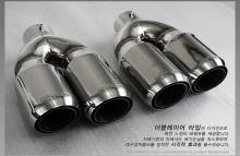 Двойная насадка IXION - вход 61 мм., полированная нержавеющая сталь