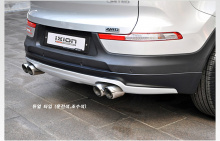 Двойная насадка IXION - вход 61 мм., полированная нержавеющая сталь - KIA SPORTAGE R