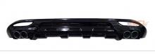 Тюнинг Хендай Соната 6 - диффузор заднего бампера под двойной глушитель.