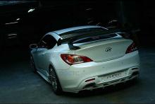 Тюнинг Hyundai Genesis Coupe - юбка заднего бампера.