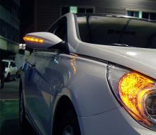 Тюнинг Хендай Соната - боковые складывающиеся зеркала со светодиодными поворотниками