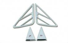 Стайлинг Hyundai ix35 - хромированные накладки на задние стойки - от производителя Cromax.