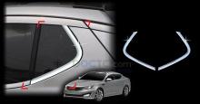 Накладки на задние стойки - Тюнинг Киа Оптима К5 - От производителя Авто Кловер - Хром, 2 шт.