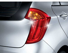 Стайлинг Киа Пиканто 2 - молдинг задних фонарей хромированный - от производителя Auto Clover.