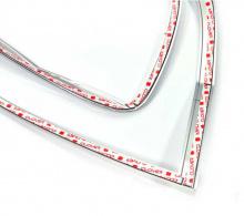 Тюнинг Киа Рио 3 хэтчбек - накладки хромированные на заднюю оптику - от компании Auto Clover.