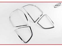 Стайлинг Киа Рио 3 хэтчбек - накладки на заднюю оптику хромированные - комплект 2 штуки - от компании Kyung Dong.