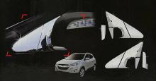 Стайлинг Хендай ix35 - хромированные накладки на крепления зеркал - от компании Auto Clover.