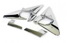 Стайлинг Киа Соренто - хромированные накладки на крепления боковых зеркал заднего вида - комплект 2 штуки - от компании Auto Clover.