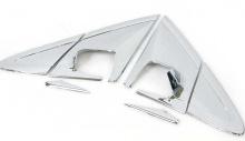 Стайлинг Киа Пиканто 2 - хромированные накладки на крепления боковых зеркал заднего вида - комплект 2 штуки - от компании Auto Clover.