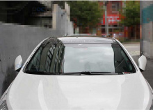 Стайлинг Хендай Соната 6 - накладки лобового стекла и рейлингов - комлпект из 6 штук - производитель Mobis.