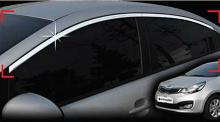 Тюнинг Киа Рио 3 седан - хромированные накладки на боковые окна - от компании Auto Clover.