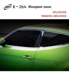 Стайлинг Хендай Велостер - хромированные накладки на боковые окна - от производителя Kyung Dong.