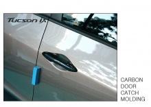 Стайлинг Hyundai ix35 - накладк на дверные ручки под карбон - комплект 4 штуки - от ателье ArtX.