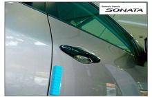 Стайлинг Хендай Соната 6 - накладки на дверные ручки - от ателье ArtX.