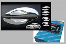 Стайлинг Хендай Соната 6 - накладки на дверные ручки хромированные - от производителя Auto Clover.