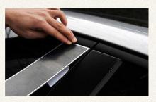 Стайлинг Хендай Велостер - накладки на центральные стойки - от ателье ArtX.