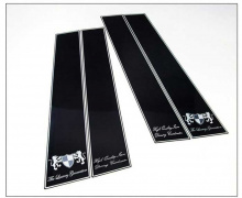 Тюнинг Киа Рио 3 хэтчбек 2012 - н.в. - комплект накладок на центральные стойки - от ателье ArtX.
