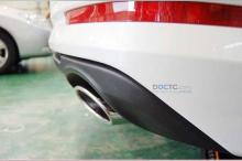 Накладка на задний бампер под двойную выхлопную систему - от официального поставщика дополнительного оборудования Мобис. Тюнинг Киа Оптима.