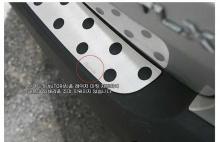 Тюнинг Киа Соренто - накладка на задний бампер из нержавеющей стали - от компании Autoria.