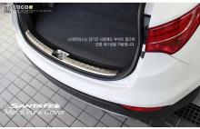 Защитный молдинг накладка на порог багажника - Стайлинг Хендай Санта Фе 3 - от производителя Cacao.