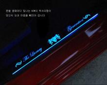 Накладки на пороги с подсветкой Luxury Generation - Тюнинг Киа Спортейдж 3 - Новый кузов.