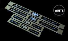 Светящиеся светодиодные накладки на пороги в салон Киа Оптима К5. Производство - АРТ ИКС, модель - Лакшери Генерэйшен. Комплект 4 шт.