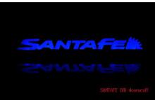 Накладки на пороги с подсветкой - Тюнинг салона Hyundai Santa Fe DM от компании Change Up.