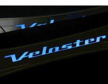 Тюнинг салона Хендай Велостер - накладки на пороги в салон светодиодные - от компании Change Up.