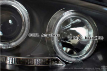 Светодиодные передние фары с ангельскими глазками - Тюнинг Хендэ АйИкс 35.