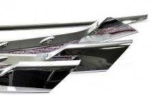 Хром-пакет накладок-молдингов на решетку радиатора, двери и крышку багажника Автокловер - Стайлинг Хендай Санта Фе 3.