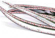 Накладки - реснички передних фар, задних фар, переднего бампера вокруг противотуманных фар.