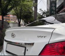 Спойлер на крышку багажника уретановый Hyundai Solaris
