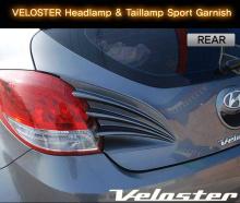 Стайлинг Хендай Велостер - накладки на переднюю оптику - от ателье ArtX.