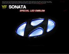 Эмблема с LED подсветкой на Hyundai Sonata YF
