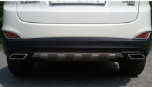 Тюнинг Hyudai ix35 - диффузор заднего бампера - под двойной глушитель - от компании Hanil.