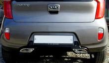 Тюнинг Киа Пиканто 2 - диффузор заднего бампера с имитацией двойной выхлопной системы - от компании Hanil.