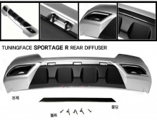 Тюнинг Киа Спортейдж - диффузор заднего бампера - от компании Tuning Face.