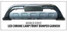 Защитная накладка на передний бампер c Led подсветкой - Тюнинг Hyundai iX35.