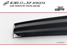 Тюнинг Хендай Соната 5 - ветровики на боковые окна тонированные - от компании Kung Dong.