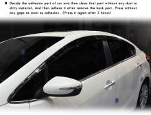 Тюнинг Киа Серато 3 - ветровики тонированные на боковые окна - комплект 4 штуки - от производителя Kyung Dong.